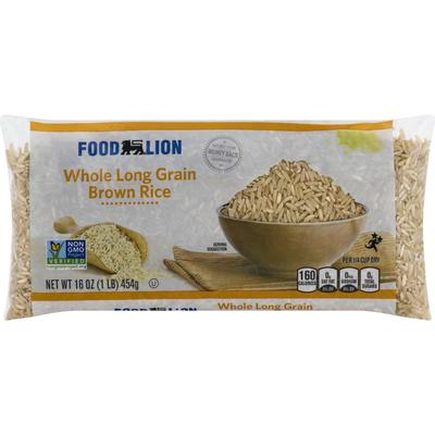 Food Lion Brown Rice, Whole Long Grain
