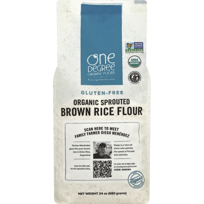 One Degree Organics Brown Rice Flour, Organic Sprouted