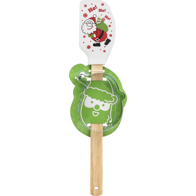 Publix Spatula with Stainless Steel Cookie Cutter, Silicone