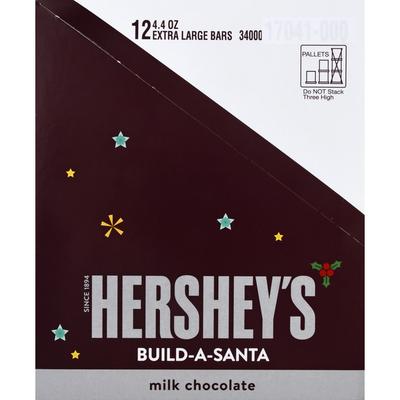Hershey Milk Chocolate Bar, Build-A-Santa, Extra Large