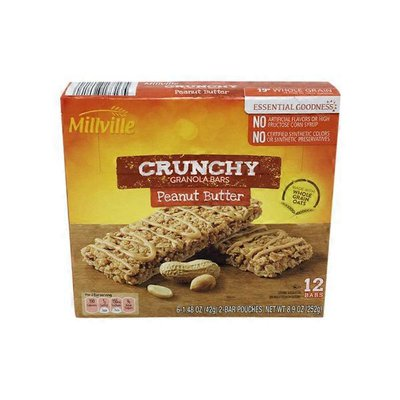 Millville Peanut Butter Crunchy Granola Bars