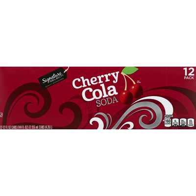 Signature Select Soda, Cherry Cola, 12 Pack