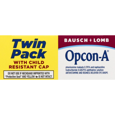 Bausch & Lomb Eye Allergy Relief, Twin Pack