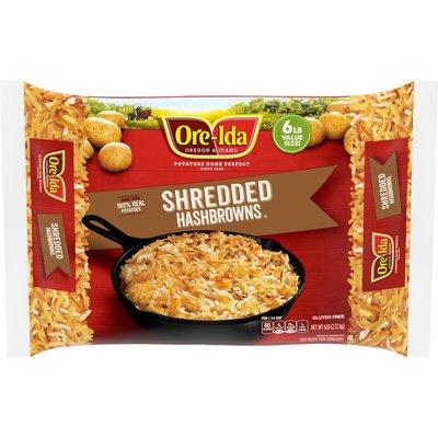 Ore-Ida Shredded Hash Browns Frozen Potatoes Value Size