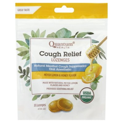 Quantum Cough Relief, Lozenges, Meyer Lemon & Honey Flavor