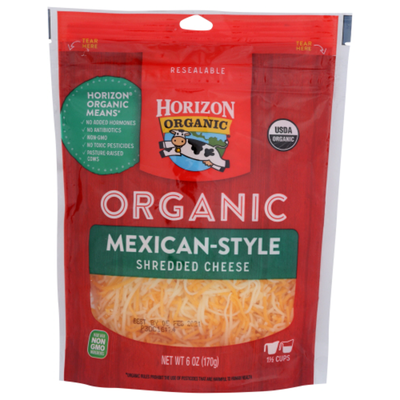 Horizon Organic Mexican Style Shredded Cheese