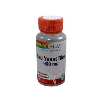 Solaray Red Yeast Rice 600 Mg capsules