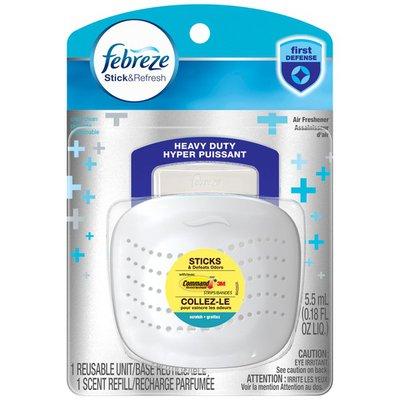 Febreze Stick & Refresh Starter Kit Heavy Duty Crisp Clean Air Freshener
