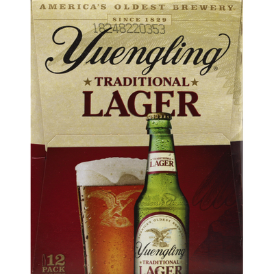 Yuengling Beer, Traditional, Lager, 12 Pack