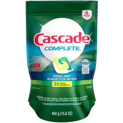 Cascade Complete Lemon ActionPacs Dishwasher Detergent