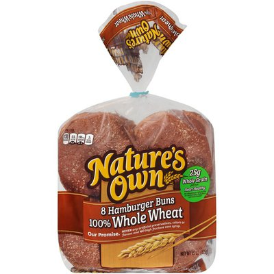 Nature's Own Whole Wheat Hamburger Buns