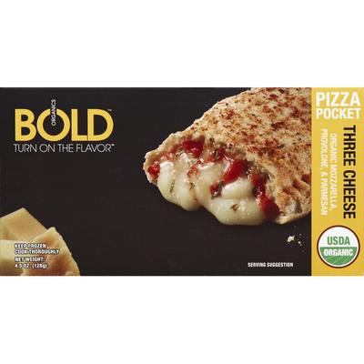 BOLD Organics Pizza Pocket, Three Cheese