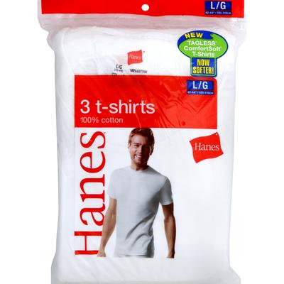 Hanes T-Shirts, L, 42-44 Inch