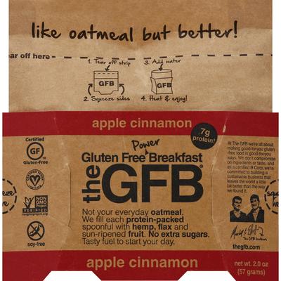 The GFB Apple Cinnamon Oatmeal