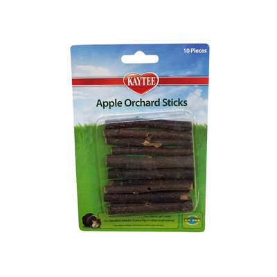 Kaytee Apple Orchard Sticks For Hamsters, Rabbits, Guinea Pigs Or Other Small Animals