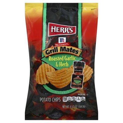 Herr's Potato Chips, McCormick Grill Mates Roasted Garlic & Herb Seasoned