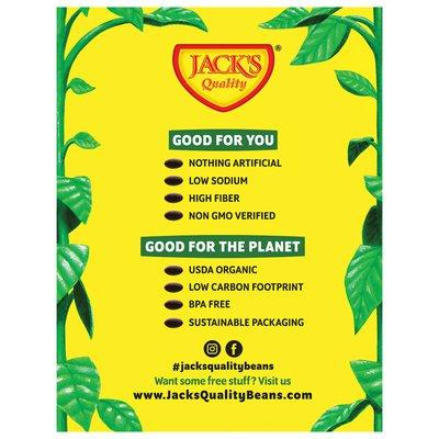 Jack's Quality Black Beans, Organic, Low Sodium