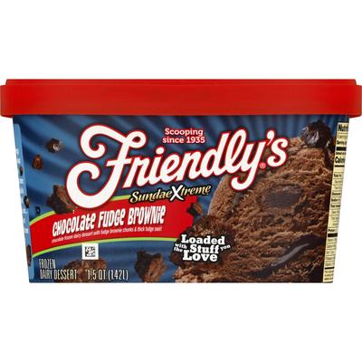 Friendly's Frozen Dairy Dessert, Chocolate Fudge Brownie