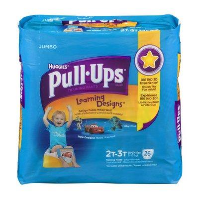 Huggies Pull-Ups Disney Learning Designs Training Pants Size 2T-3T - 26 CT