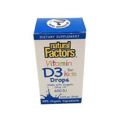 Natural Factors Vitamin D3 For Kids Dietary Supplement