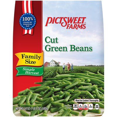 Pictsweet Farms Simple Harvest Family Size Cut Green Beans