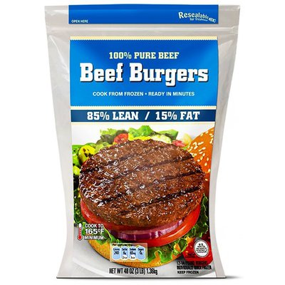 85% Lean 15% Fat Ground Beef Patties