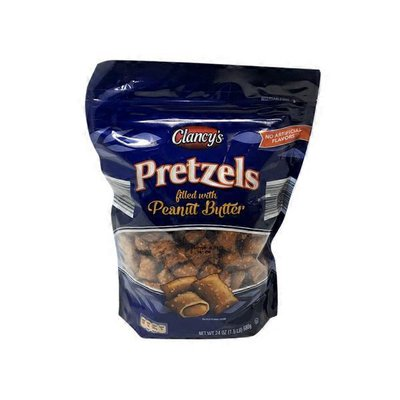 Clancy's Pretzels Filled With Peanut Butter
