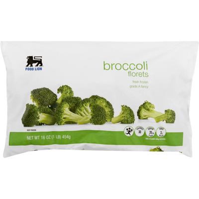 Food Lion Broccoli Florets, Fresh Frozen, Bag