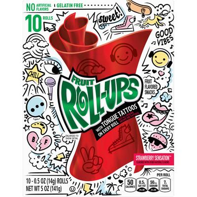 Fruit Roll-Ups Fruit Flavored Snacks, Strawberry Sensation