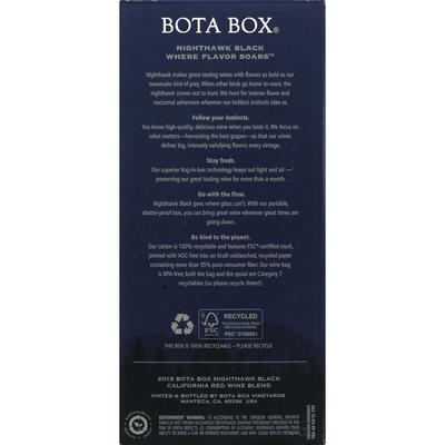 Bota Box Red Wine Blend, Rich, California