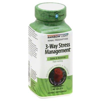 Rainbow Light Dietary Supplement, 3 Way Stress, Tablets, Bottle