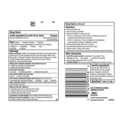 Pepto-Bismol Original Liquid For Nausea, Heartburn, Indigestion, Upset Stomach,
