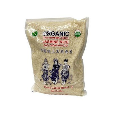 Three Ladies Brand Organic Thai Long Grain Jasmine Rice