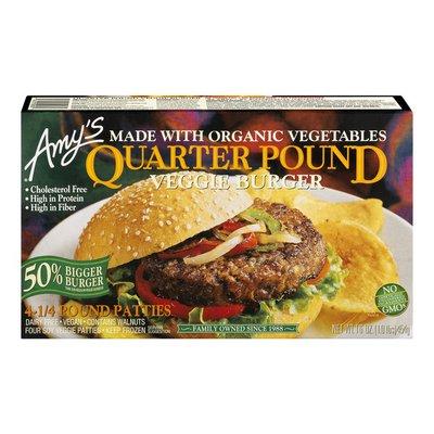 Amy's Kitchen Veggie Burger, Soy Veggie, Quarter Pound