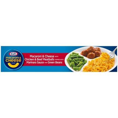 Kraft Macaroni & Cheese Dinner with Chicken & Beef Meatballs in Marinara Sauce
