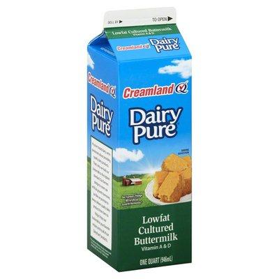 Creamland Buttermilk, Dairy Pure, Cultured, Lowfat, Carton
