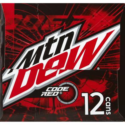 Mountain Dew Soda, Code Red