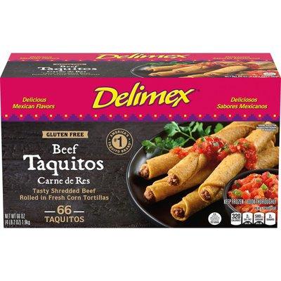Delimex Beef Gluten Free Corn Taquitos Frozen Snacks