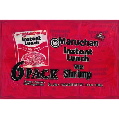 Maruchan Ramen Noodles, with Vegetables, with Shrimp