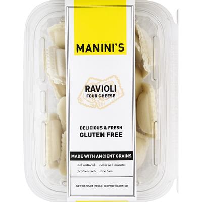 Maninis Ravioli, Gluten Free, Four Cheese