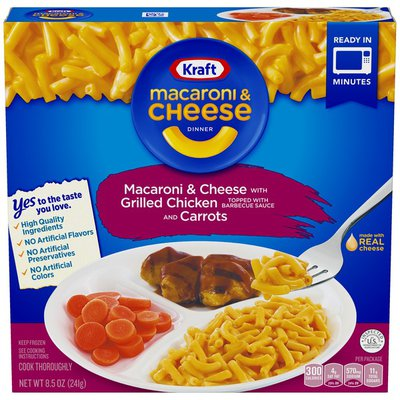 Kraft Macaroni & Cheese with Grilled Chicken and Carrots Dinner