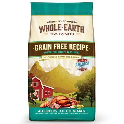 Whole Earth Farms Grain Free Recipe With Turkey & Duck