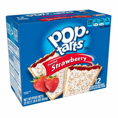 Kellogg's Pop-Tarts Toaster Pastries, Frosted Strawberry, Breakfast Foods