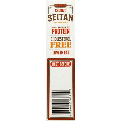 Upton's Naturals Seitan, in Crumbles, Chorizo
