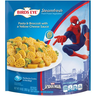 Birds Eye Marvel Spider Man Pasta & Broccoli with a Yellow Cheese