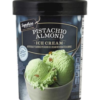 Signature Select Ice Cream, Pistachio Almond