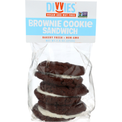 Divvies Made To Share Cookie Sandwiches, Brownie With Vanilla