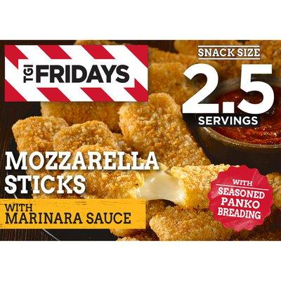 Tgif Mozzarella Sticks Frozen Snacks with Marinara Sauce