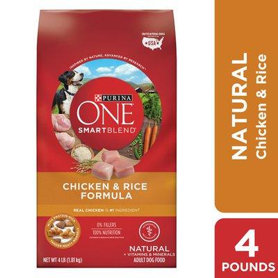 Purina ONE Natural Dry Dog Food, SmartBlend Chicken & Rice Formula