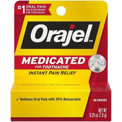 Orajel Medicated Instant Pain Relief Gel